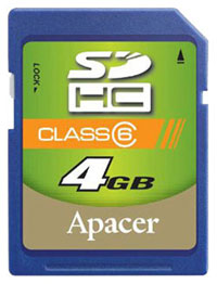 APACER Secure Digital 4GB SDHC class6