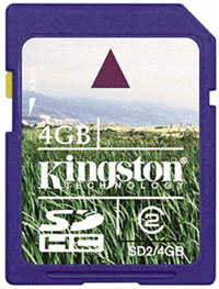 KINGSTON Secure Digital 4GB SDHC class2