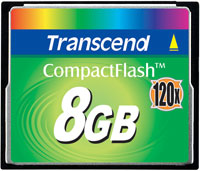 TRANSCEND Compact flash card 8Gb 120X
