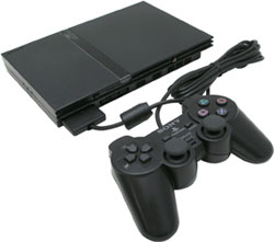 Sony PlayStation 2 Black slim with JAK3/RATCHET3
