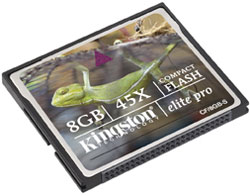 KINGSTON Compact flash 8Gb Elite Pro