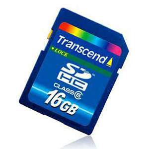 TRANSCEND Secure Digital 16GB SDHC class6